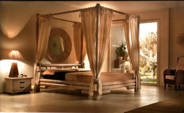 Arredare con il bamb lampadari letti e mobili etnici for Casa di design artigiano