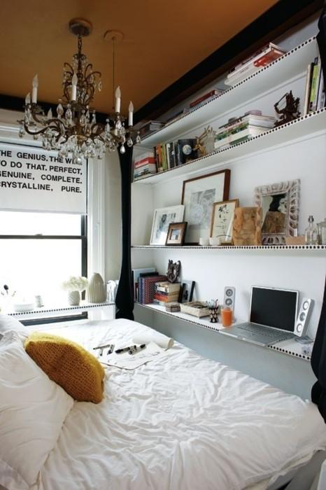 Arredare con le mensole in maniera divertente ed economica - Mensole camera da letto ...