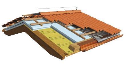 tetto in legno lamellare ventilato