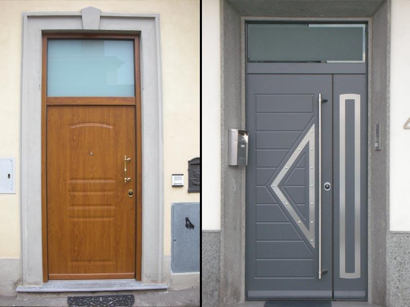 Vetri colorati artistici per porte e finestre scorrevoli o - Porte blindate da esterno prezzi ...